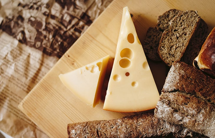 store cheese Swiss triangle