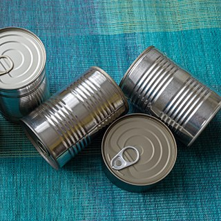 unlabeled canned food storage containers