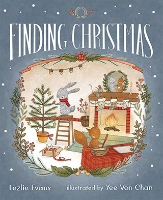 gray kids holiday book cover: Finding Christmas