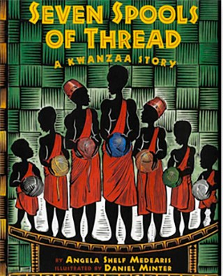 book cover of Seven Spools of Thread A Kwanzaa story