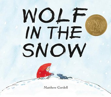 book cover of kid's holiday book, Wolf in the Snow