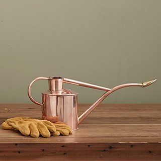 rose gold houseplant watering can