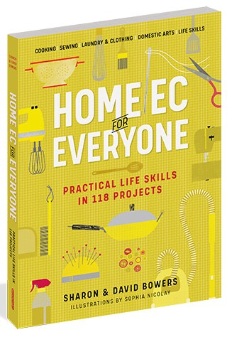 Book cover of Home Ec for Everyone by Sharon & David Bowers (Illustrations by Sophia Nicolay)